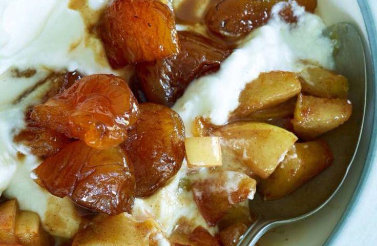 Dessert: Griekse yoghurt met appelcompote