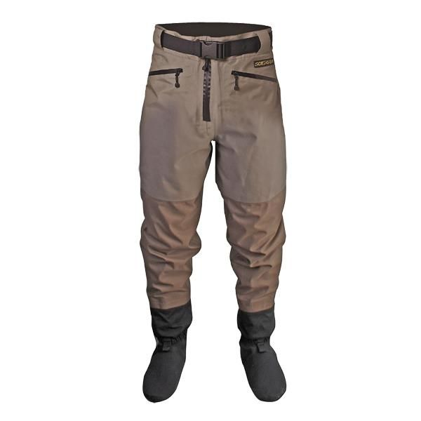 Scierra CC3 XP Waist Waders Stocking foot version are made from a strong 3-layer breathable fabric which is 100% waterproof to more than 20,000mm and highly breathable to over 4,000mvp. #scierra #fishing #flyfishing #fishingtrousers #wading #wadingtrousers