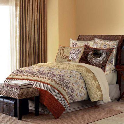 Bombay Dyeing Celebrating India King Bed Sheet Set Beige,King Size Bed Sheets