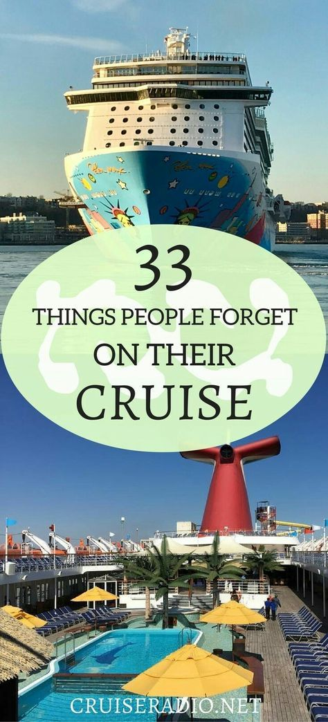We have compiled a list of things people often forget to bring for their cruise vacation, in hopes that this will help you remember!