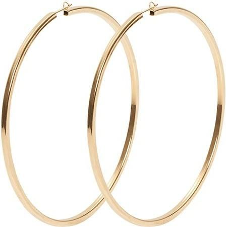 Jennifer Fisher 3 Inch Gold Hoop Earrings as seen on Selena Gomez