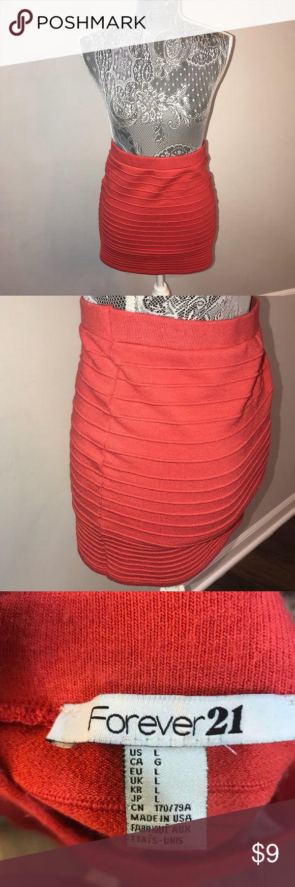 I just added this listing on Poshmark: Coral-orange Mini skirt from Forever 21. #shopmycloset #poshmark #fashion #shopping #style #forsale #Forever 21 #Dresses & Skirts