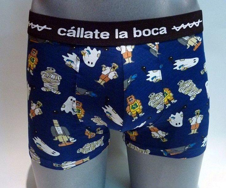 Boxer Zombieland Cállate la Boca - ENVÍO 24/48h - Boxer en color azul marino, con un montón de zombies. Tu ropa interior masculina en Varela Íntimo. #calzoncillos #hombre #modahombre #ropainterior http://www.varelaintimo.com/marca/5/callate-la-boca