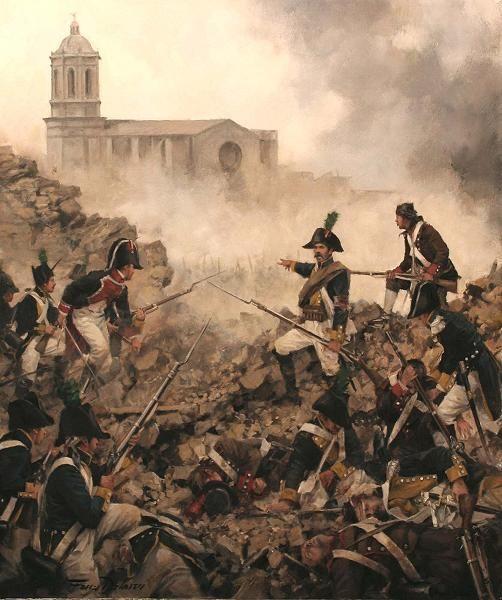 Spanish troops in the siege of Gerona