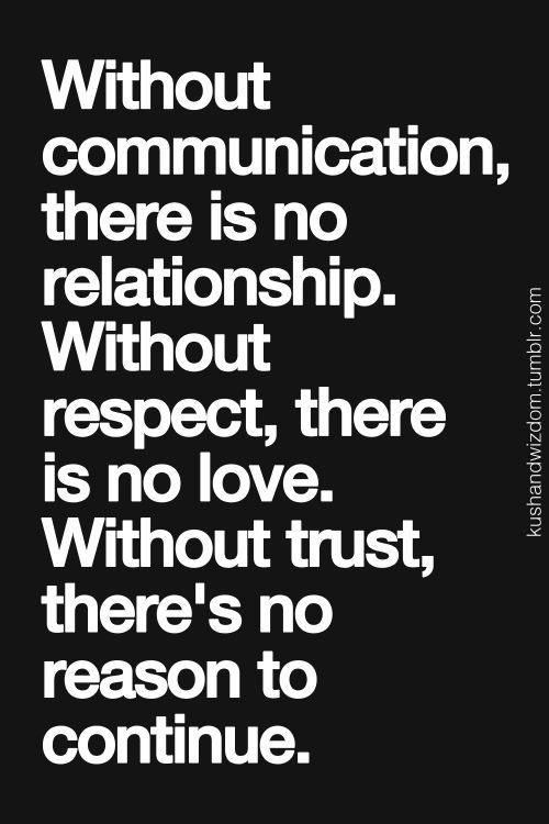 why is trust and communication important in a relationship