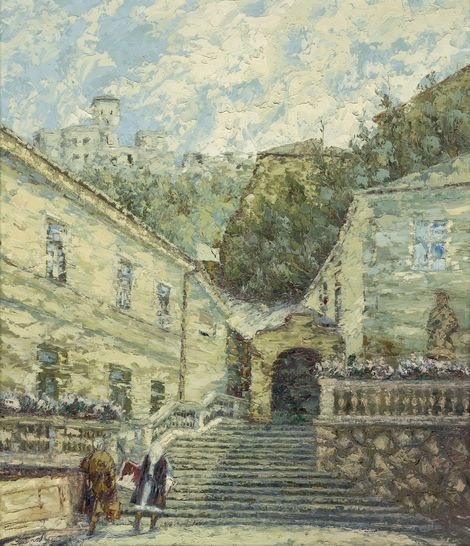 Ján Šandora, Castle stairs on ArtStack #jan-sandora #art