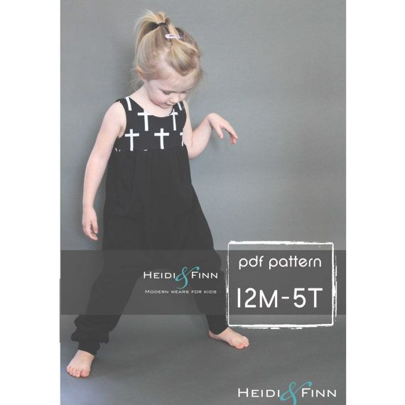 NEW Sugar n Spice dress and romper pattern and tutorial PDF 12m-5T  tunic dress jumper playsuit easy sew