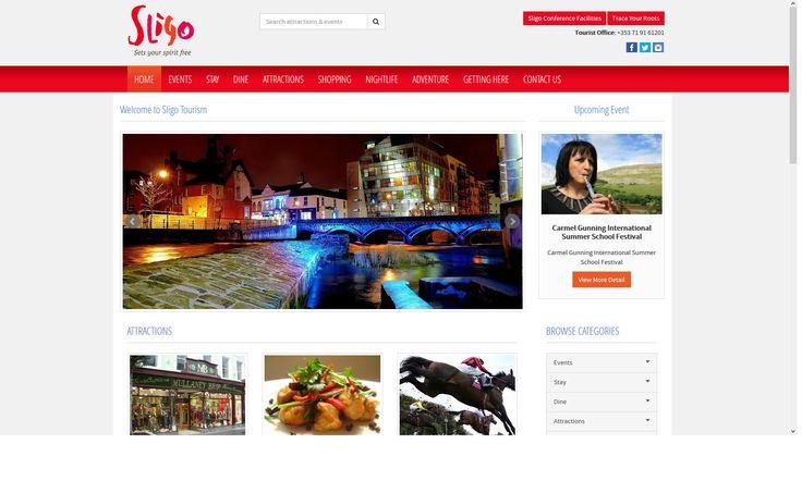 www.sligotourism.ie, Sligo Tourism website, designed and built by www.format.ie web design Sligo.