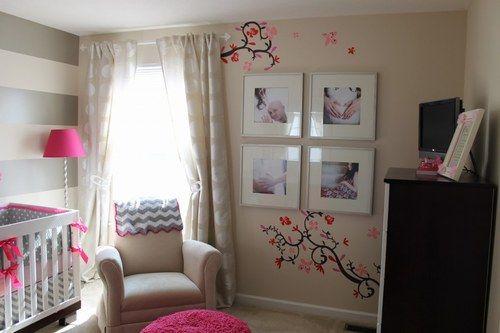 Chambres de b b un peu d 39 inspiration pour les futures - Chambre bebe rose et taupe ...