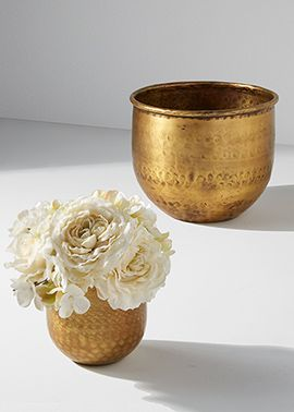 4in & 6in Antique Brass Vase - another inexpensive way to work in some gold.