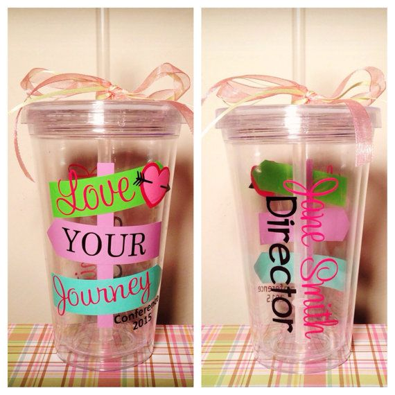 16oz drink tumbler: Thirty One Gifts Consultant, Personalized with name & Title. 2015 Conference- Love Your Journey