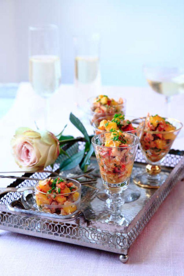 Hummer i mangosalsa - Recept - Mitt Kök