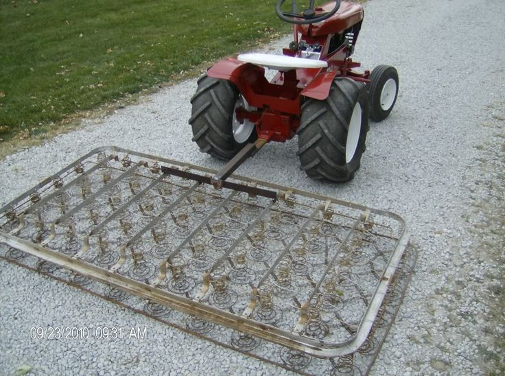 this homemade from an old bed spring gravel leveler smoother is one piece of redneck. Black Bedroom Furniture Sets. Home Design Ideas