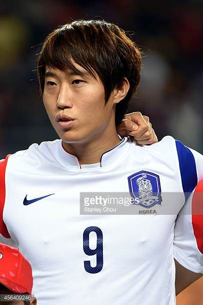 Lee Yongjae of South Korea poses during the Football Mens semifinal match between South Korea and Thailand during day eleven of the 2014 Asian Games...