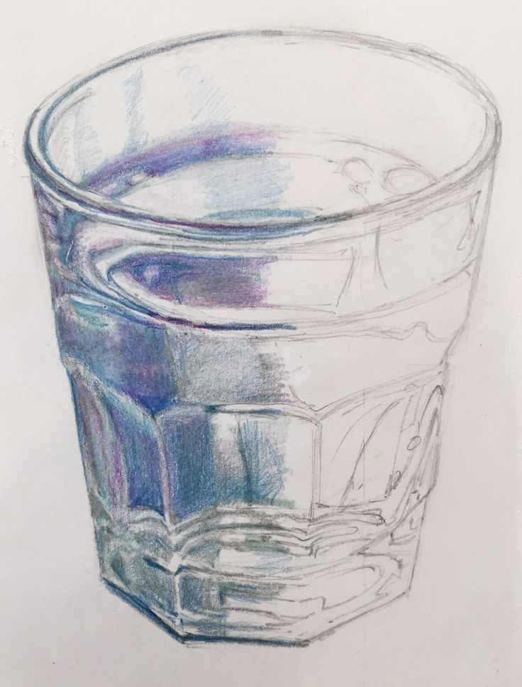 how to draw water with colored pencils