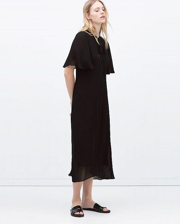 Zara'nın siyah elbise modelleri yeni yılda da çok moda.