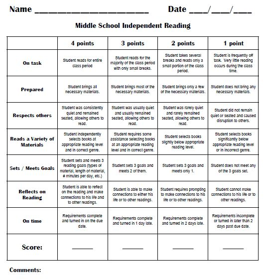 Reading Rubric Pack Sample-revamp for daily 5 stations? Use as an accountability piece instead of a grade?