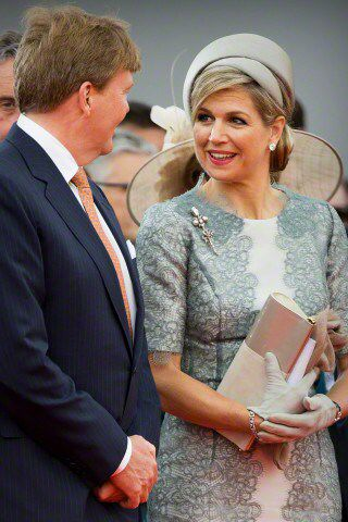 18 juni 2015 King Willem-Alexander and Queen Máxima of the Netherlands attended a national service commemorating the 200th anniversary of the Battle of Waterloo