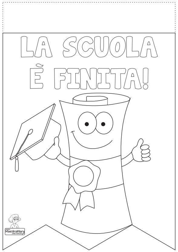 Bandierina Per Festone Da Colorare Le Idee Della Scuola Scuola Diploma Di Scuola Materna