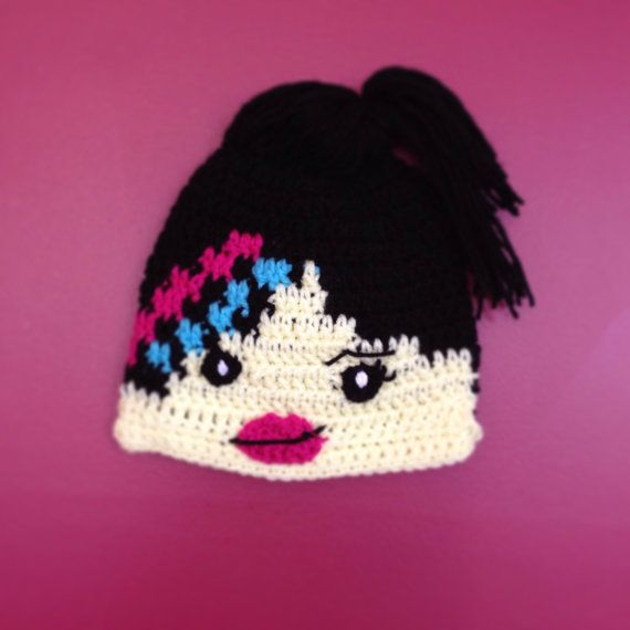 Lucy Wyldstyle Lego Hat-  Crochet Girls Lego Hat - You Choose the Size, Baby, Children or Adult on Etsy, $20.00