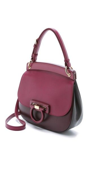 Supernatural Style | https://pinterest.com/SnatualStyle/  Salvatore Ferragamo Hermada Small Shoulder Bag