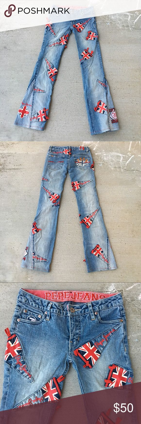 Pepe Jeans Sz 24 Pepe Jeans Size 24 London, Great Britain, Europe  #pepe #pepejeans #british #britishflag #jeans #unique #rare #posh #love Pepe Jeans Jeans