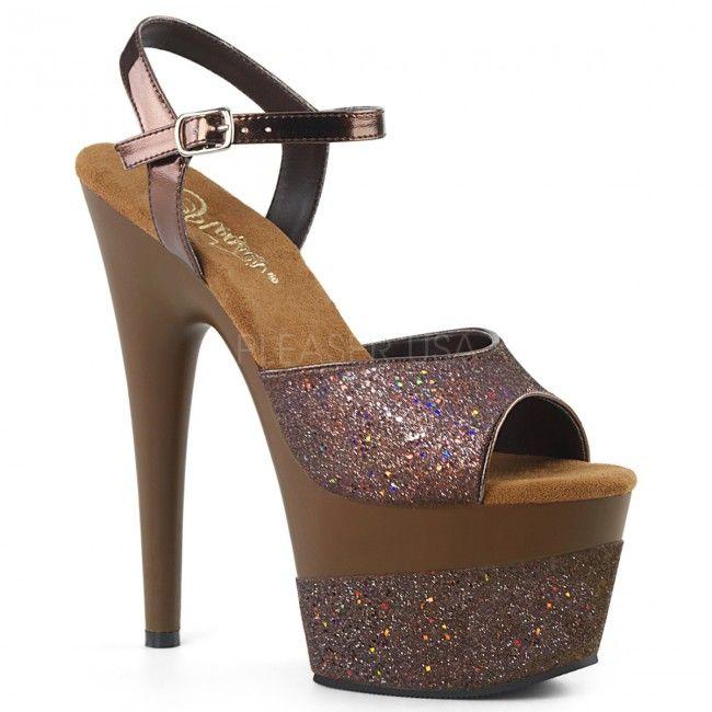 9d4568e12bf ADORE-709-2G Coffee Multi Glitter Coffee Multi Glitter ◈ Seductive Shoes UK