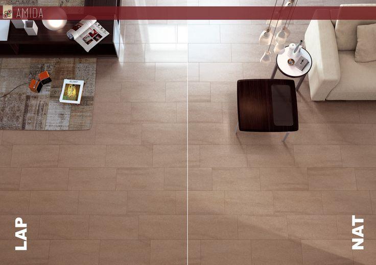 Come scegliere un pavimento? Cosa vuol dire lappato? E naturale? Con questi due termini si indica se una piastrella è lucida (lappata) o opaca (naturale): l'effetto è molto diverso! E voi, cosa scegliereste? Vieni da Amida e scopri di più!