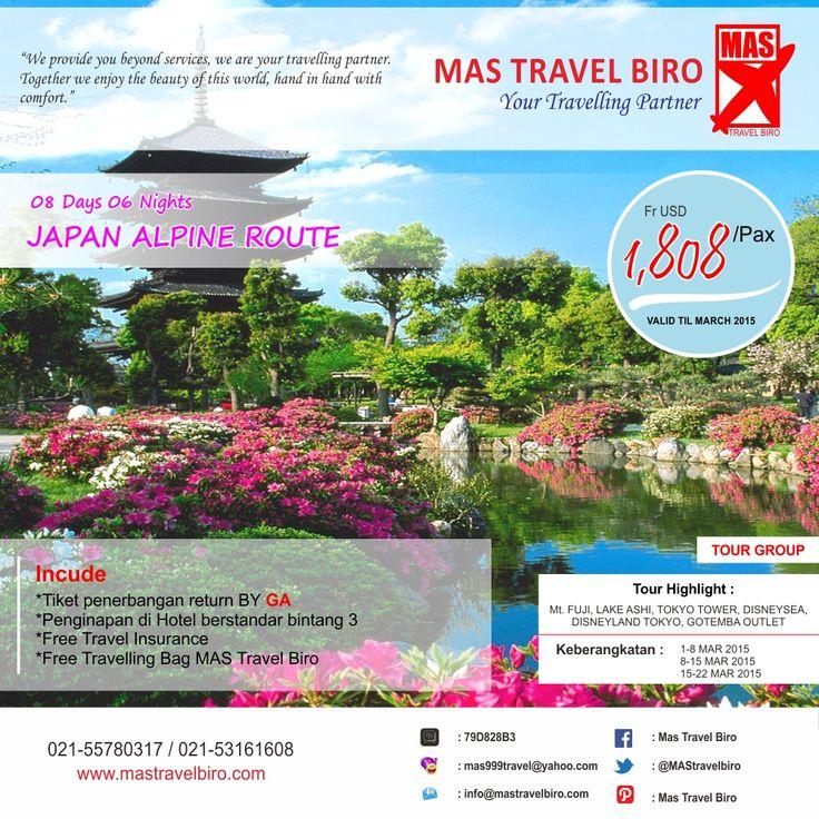 Tour Group Japan, Include : Tiket Penerbangan, Tour dan Hotel. Hanya sampai Maret 2015. Info : 021-55780317 / 021-53161608