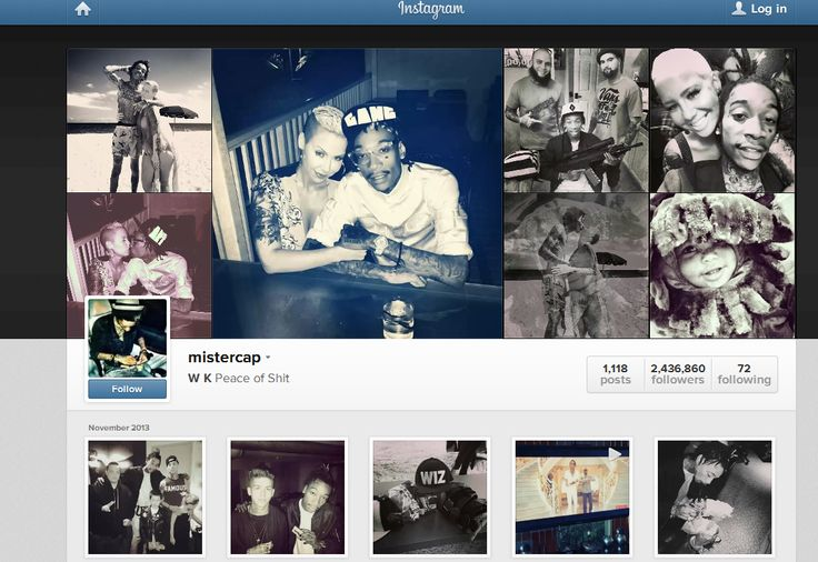 Wiz Khalifa using Instagram to share, broadcast and engage with his fans. As you can see, he have 2400000++ followers on Instagram, this number clearly shown that he have influence on his fans. Not to mention that he post a picture there daily, sometimes he post up to 6 picture a day. #MRK634 #WizKhalifa #Socialinfluence