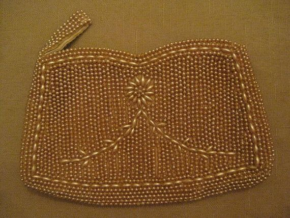 Un Used 1940's Made In Japan Pearl Beaded by vtseredipityboutique