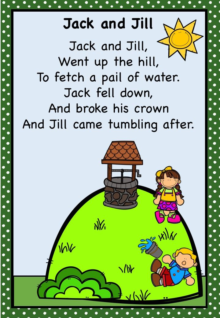 Jack And Jill Dvd Release Date March 6 2012: 17 Best Images About Nursery Rhymes On Pinterest