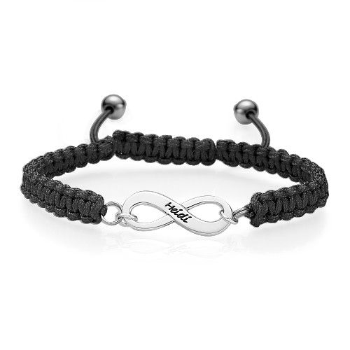 un bracelet grav avec un pr nom symbole de l 39 amiti infinie bijoux personnalis s pinterest. Black Bedroom Furniture Sets. Home Design Ideas