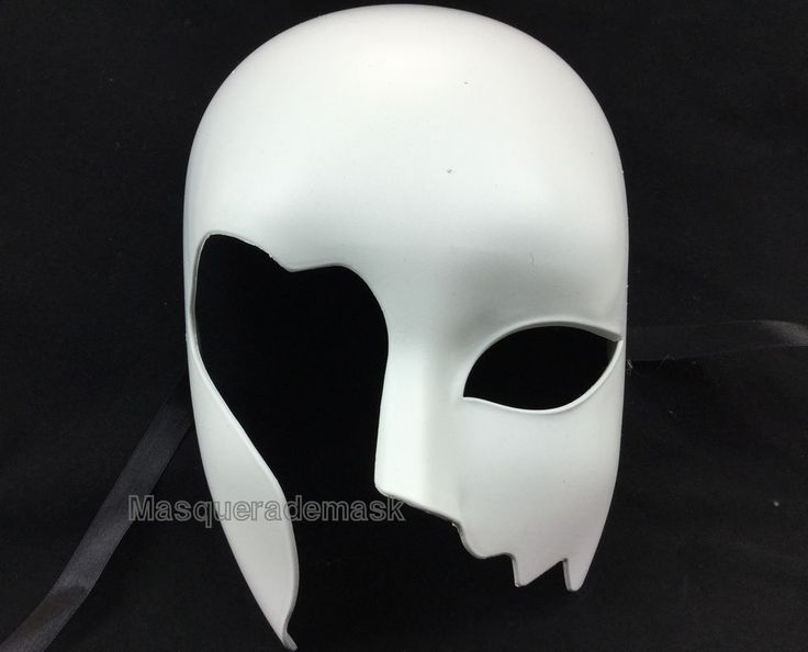 DIY Mask Base Halloween Masquerade Party Blank White Unpainted Roman Handcut #Handmade #blankunpaintedwhite #costumepromparty