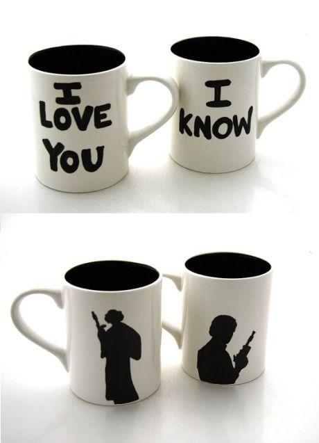 Han and Leia mug set!