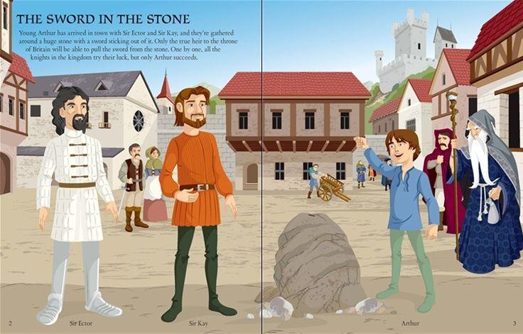 See inside 'Sticker Dressing: King Arthur' from Usborne | #children's #books #new #October #stickerbooks #stickerdressing #KingArthur #Camelot #KnightsoftheRoundTable #Merlin