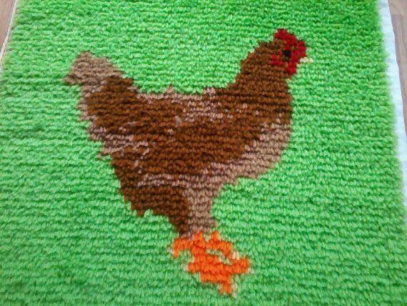 Alfombra de gallina pestillo gancho completo