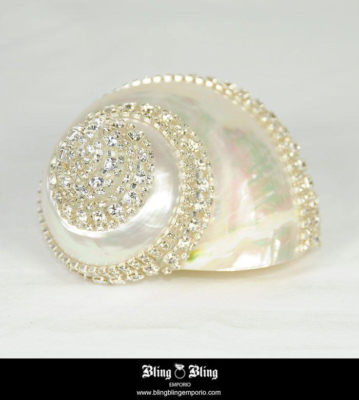 Swarovski Crystals Sea Shell | by blingblingemporio
