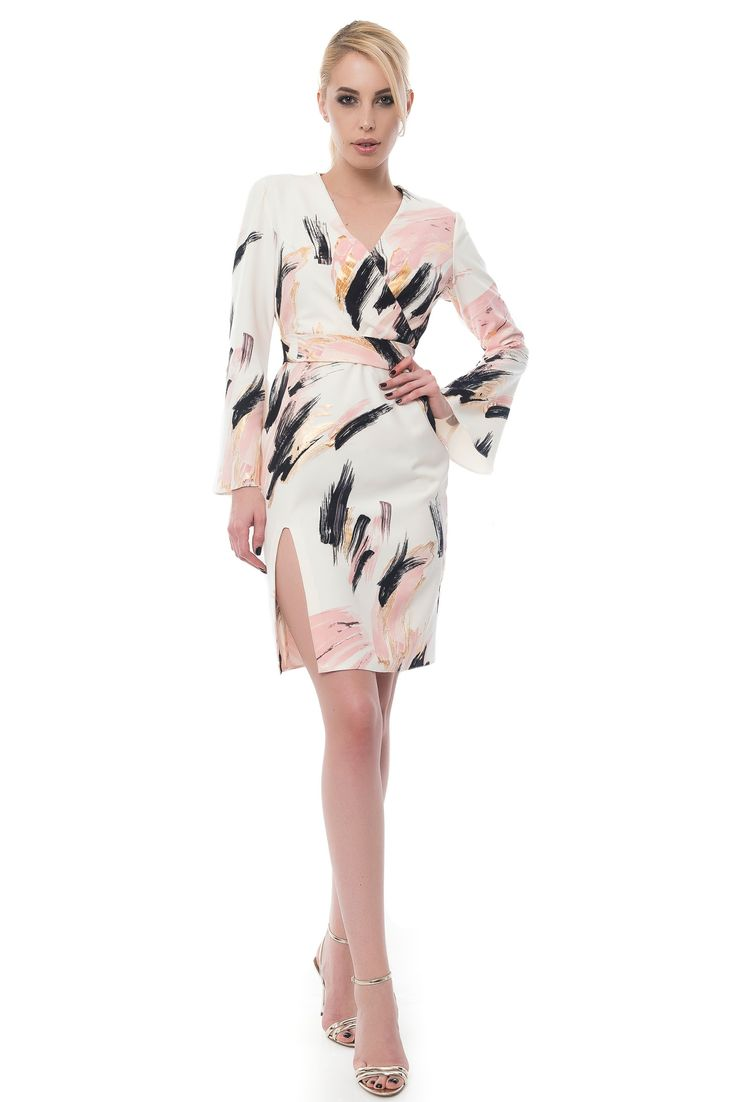 ROCHIE PETRECUTA CU MANECI CLOPOT SI CORDON side over side dress with flared sleeves  Sursa: http://maruca.ro/Rochie-petrecuta-cu-maneci-clopot-si-cordon-w10372 Copyright © Maruca.ro