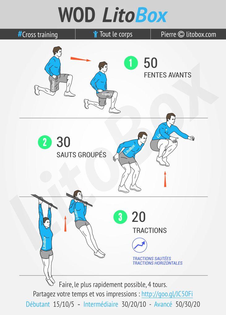 Circuit training au poids du corps en moins de 20 minutes en full-body, go ! + Pensez à partager ce WOD ou à tagger vos amis pour les motiver à s'entraîner et les challenger. Bon courage et bonne journée. Pierre. #litobox #crossfit #crosstraining #musculation #muscu #fitness