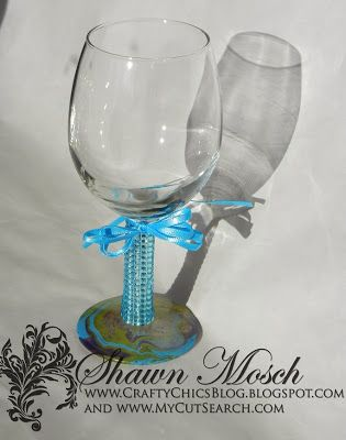 decorate a wine glass