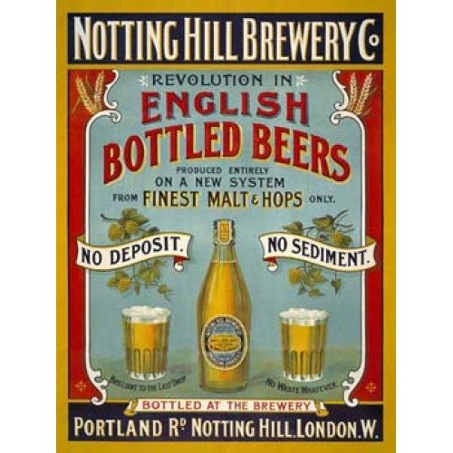 Notting Hill Brewery Co Beer Vintage Alcohol Tin Sign