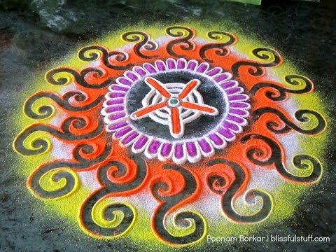 how to draw finger easy & fancy small rangoli design - YouTube