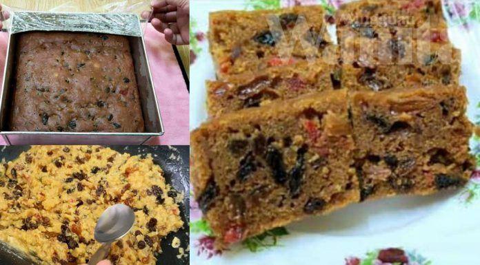 resepi kek buah bakar mat gebu resepi kek buah bakar bahan bahan koleksi resepi hudamir Resepi Kek Oren Bakar Sukatan Cawan Enak dan Mudah