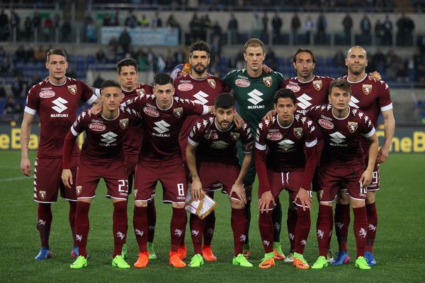 FC Torino team poses during the Serie A match between SS Lazio and FC Torino at Stadio Olimpico on March 13, 2017 in Rome, Italy.