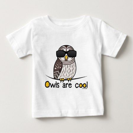 Owls are cool! baby T-Shirt - tap, personalize, buy right now!
