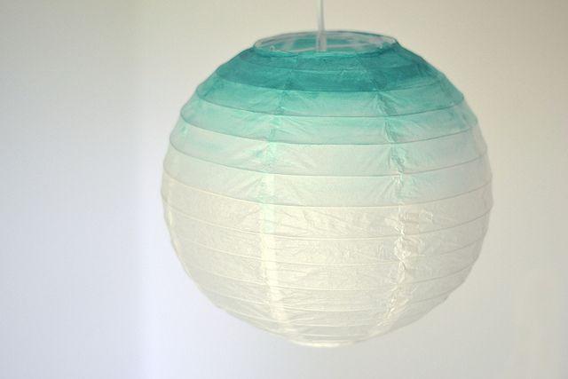 Lanterne chinoise, peinture mint by Vidibio, via Flickr