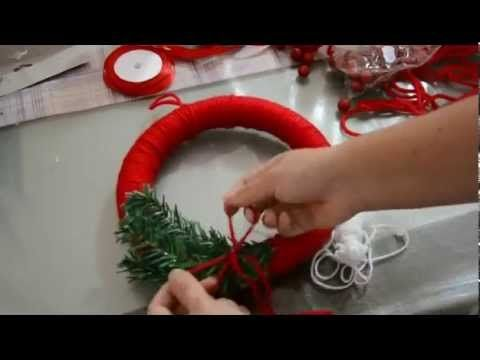 Tutorial ghirlanda di Natale fai da te /  Tutorial Christmas wreath DIY