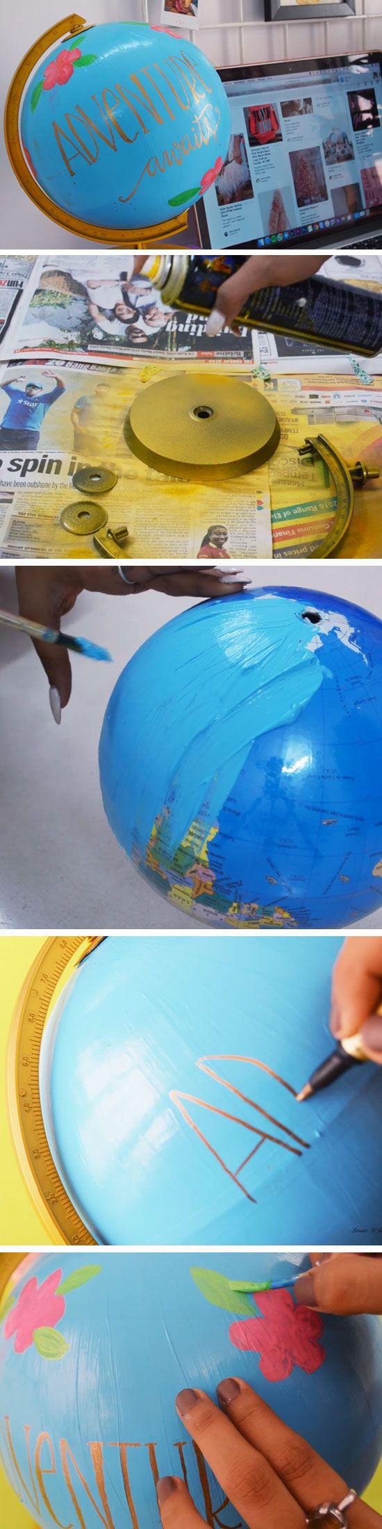 Desktop Globe   DIY Summer Room Decor Ideas Teen Bedroom
