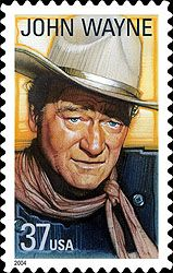 """2004 - USPS -John Wayne Stamp -The U.S. Postal Service has chosen Marion Michael Morrison, better-known to millions of adoring fans as John Wayne (or """"Duke""""), to be honored in the Legends of Hollywood commemorative stamp series this year."""